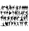 Ballet dancer silhouettes vector image