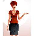 Beautiful Caucasian businesswoman full-length vector image