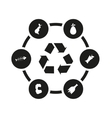 black garbage icon set vector image