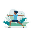 black man exercising in park in vector image