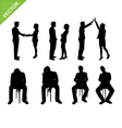 Business people silhouette vector image vector image