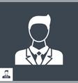 businessman glyph icon vector image vector image