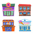 cafe collection donuts coffee house bakery cafe vector image