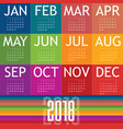 calendar of 2018 vector image