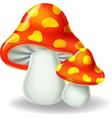 Cartoon of mushrooms vector image vector image
