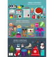 Christmas and new year toys and gifts vector image vector image