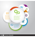 Circles modern business Infographics design vector image vector image