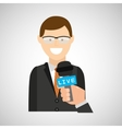 concept news interviewed icon design vector image