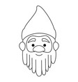 cute gnome head character vector image vector image