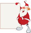 Cute Santa Claus Holding Blank Boa vector image vector image