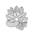 Doodle art flowers Zentangle floral pattern vector image vector image