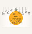 doodling style christmas greeting card vector image vector image