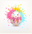 easter painted egg with bright splashes of paint vector image