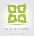 Ecology and safety business icon vector image vector image