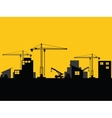 factory construction site mobile cranes city vector image