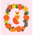 fall fox vector image vector image