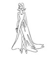 fashion woman in dress vector image vector image