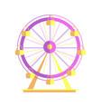 ferris wheel closeup poster vector image vector image