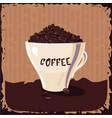 full cup coffee bean vintage vector image
