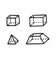 geometric solids vector image vector image