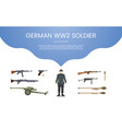german ww2 soldier army concept theme for vector image vector image