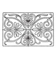 greek oblong panel has a strict palmette vector image vector image