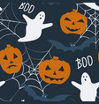 halloween holiday seamless pattern with - pumpkin vector image