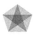 hand drawn star vector image vector image