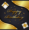 happy birthday greeting card template luxury gift vector image vector image