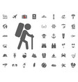 hiking icon backpacking icon summer holidays and vector image vector image
