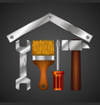 home repair with design tool for business vector image vector image