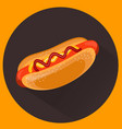 hot-dog flat style vector image vector image
