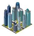 Isometric citymegapolis concept office buildings vector image vector image
