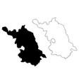 jiangsu province map vector image vector image