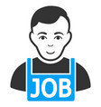 jobless flat icon vector image