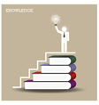 Knowledge and learning concept vector image