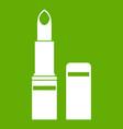 lipstick icon green vector image vector image