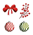 merry christmas ball decoration icon vector image vector image