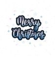Merry Christmas handwritten inscription with vector image vector image