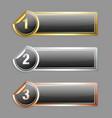 Metallic sticker banners vector image vector image