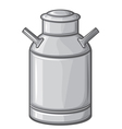 milk can vector image