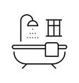 monochrome outline bathroom icon vector image vector image