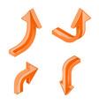 orange 3d isometric arrows vector image