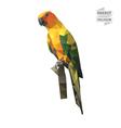 Parrot polygon vector image vector image