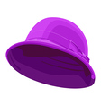pink womens hat vector image vector image