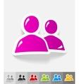 realistic design element contact ikon vector image vector image