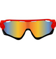 red sport sunglasses vector image vector image