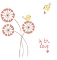 Romantic birds vector image vector image