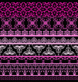 seamless floral borders vector image vector image