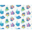seamless pattern cute colorful ghost vector image vector image